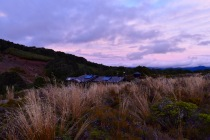 sunset at the hut